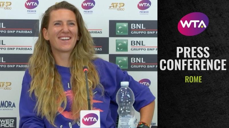 Victoria Azarenka 'I played smart tennis today' 2020 Rome Post Match Interview