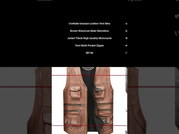 Cowhide Genuine Leather Vest Men Brown Waistcoat Male Sleeveless Jacke 9122020 1314