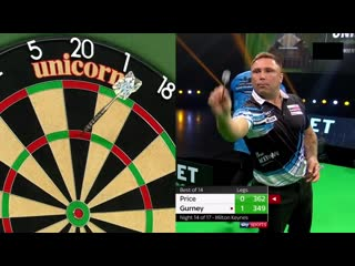Gerwyn Price vs Daryl Gurney (PDC Premier League Darts 2020 / Week 14)