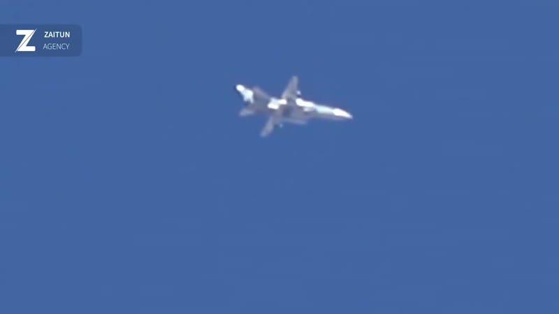 Бомбардировщик Су 24 из состава ВКС России был замечен сегодня в воздушном пространстве Идлиба