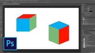 Как сделать куб в фотошопе без 3д