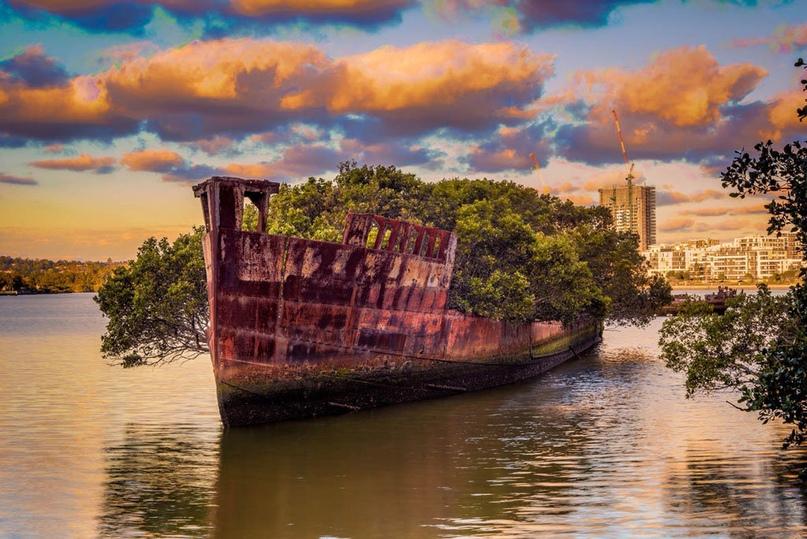 Обломки корабля Эйрфилд в заливе Хомбуш, Австралия | VK