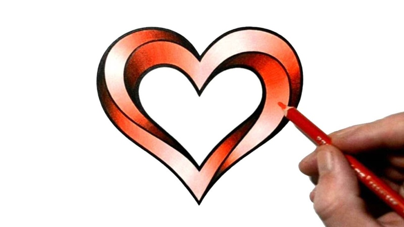 How to Draw an Impossible Heart Optical Illusion