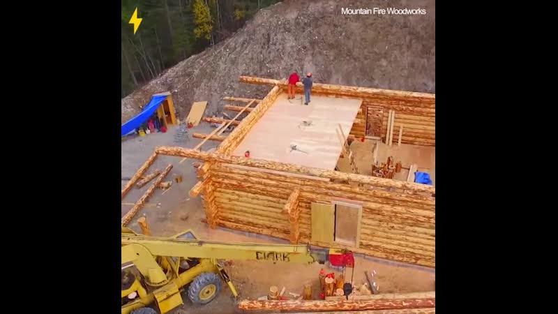 Строительство дома из сруба за 56 дней