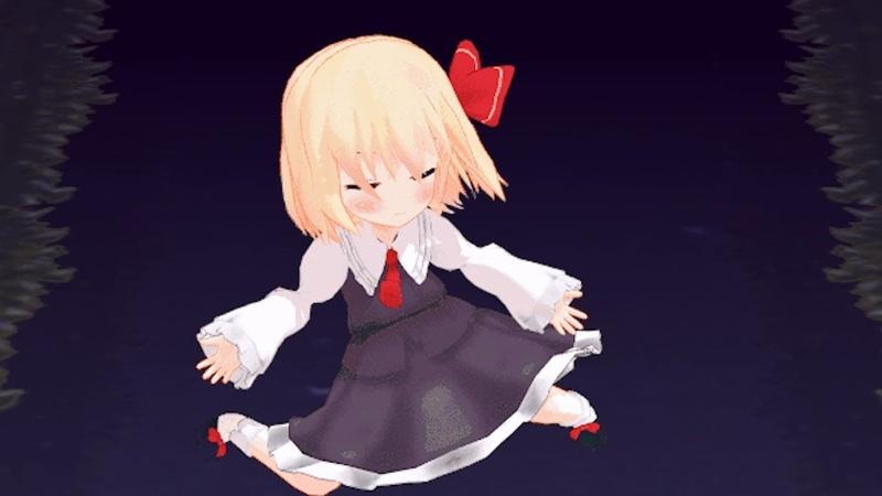 Cute little rumia dances happly