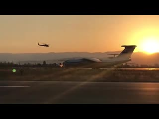 RUSSIAN MILITARY HELICOPTER PATROL IN HMEIMIM AIRPORT IN JABLEH
