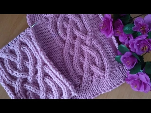 Узор АРАН спицами Подробный мастер класс Aran knitting Detailed master class