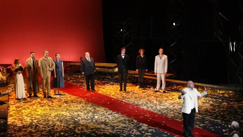 Виктор Иванович Сухоруков после премьеры спектакля Встречайте мы уходим в Театре имени Моссовета 25 12 2016г