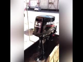 Лодочный мотор Меркури (Mercury) 9.9. Контрольная проверка перед отправкой клиенту. Лодки Поволжья.