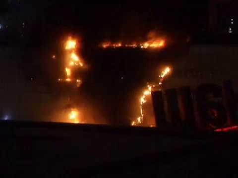 Пожар в ТЦ РИО Большая Черемушкинская Крымская