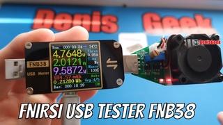 Обзор универсального тестера FNIRSI FNB38 + обновление прошивки