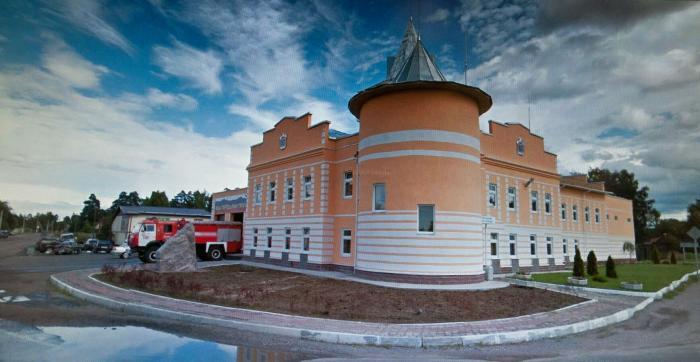 Современное здание пожарного ДЭПО, открытое 30 мая 2013 года