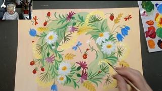 Детский курс  . Весна. Веток из полевых цветов