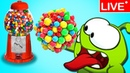 Om Nom Stories: CANDY OVERLOAD | All New Episodes |🔴LIVE Funny Cartoons for Kids by HooplaKidz TV