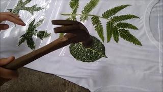 How to Make Eco print on Fabric - Eco Printing Fabric Tutorial - Eco Printing with Hammer