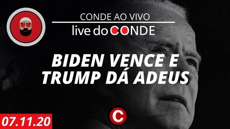 Live do Conde especial Biden vence e Trump dá adeus