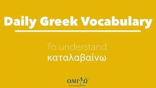 """Free Greek Lesson ! Learn how to say """"I (do not) understand"""" in Greek 
