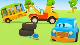 Dessin animé pour garçons : Les voitures futées aident à réparer les véhicules