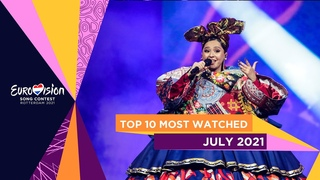 TOP 10: Most watched in July 2021 - Eurovision Song Contest