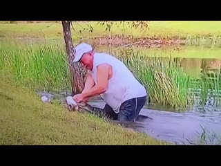 В США житель штата Флорида голыми руками достал щенка