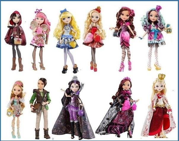 все куклы эвер афтер хай и их имена фото жаль, что