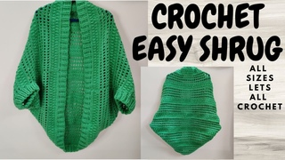 Crochet Cocoon Cardigan or Crochet Cocoon Shrug in All sizes in this Easy Beginner friendly Tutorial