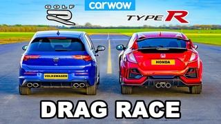 VW Golf R v Civic Type R - DRAG RACE