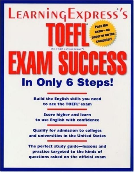 chesla elizabeth toefl exam success in only 6 steps