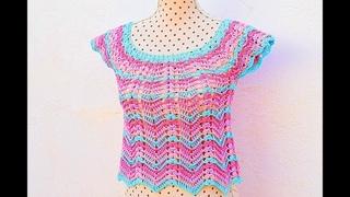 Crochet summer blouse very easy and fast Majovel crochet