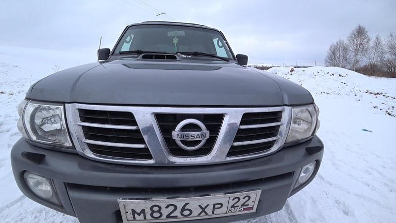 Тест Драйв Обзор Nissan Patrol Кузов Y61 ZD30 дизель