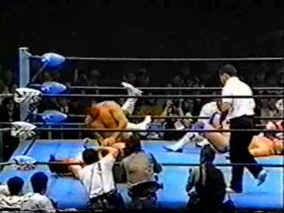 () AJPW Toshiaki Kawada & Akira Taue Vs. Mitsuharu Misawa & Jun Akiyama (23-05-96)
