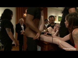 Ranie Mae and John Johnson - Slender Blonde gets Tied up and Fucked in Public