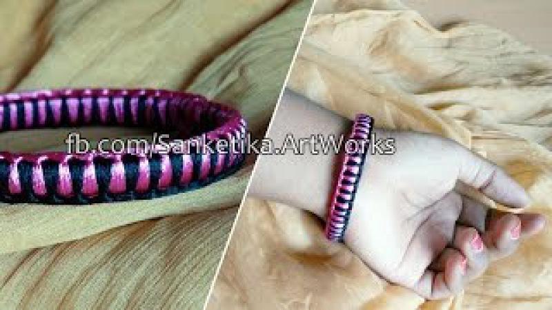 How To Make Criss Cross Weaving Silk Thread Bangles - DIY Fancy Bangles