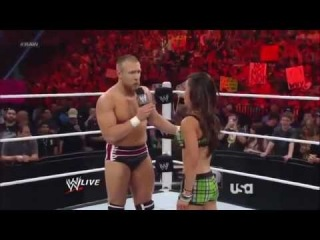 WWE Raw 7/16/12 - Daniel Bryan & AJ vs The Miz & Eve (+Bryan's Surprise) ⋆ HQ