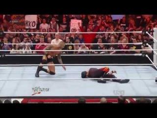 Randy Orton Attacks Kane..!! WWE, RAW 3/5/12 HQ!