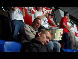 England Supporters Band v The Incredible Sleeping Man Basel Switzerland 2010
