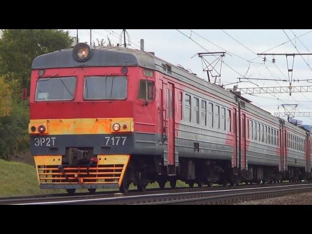 Электропоезд ЭР2Т-7177 приветливая бригада-) Electriktrain ER2T-7177