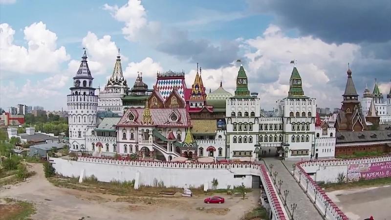 Видео Кремль в Измайлово с высоты птисьего полёта