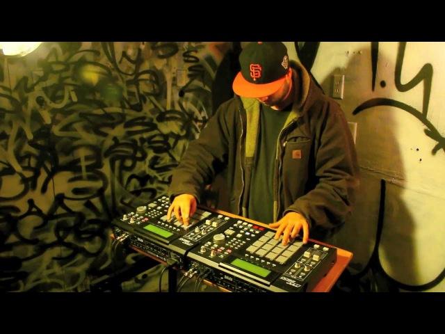 DURAZZO Monkey Bars Live Beatmaking on Dual MPC 2500s
