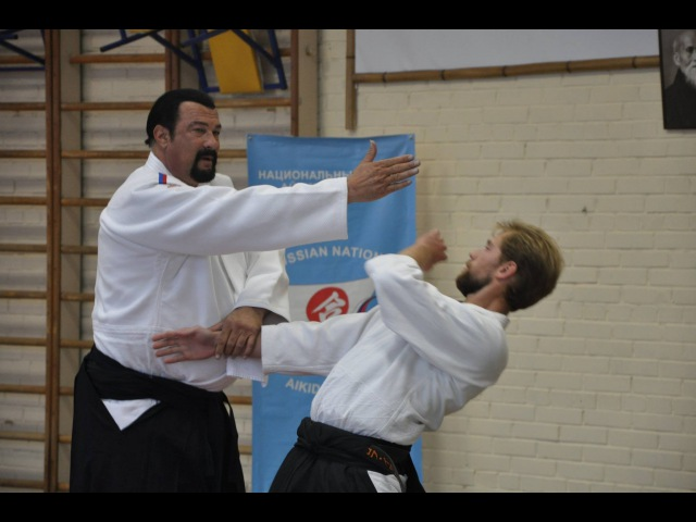 Steven Seagal aikido master class in Moscow University 2015