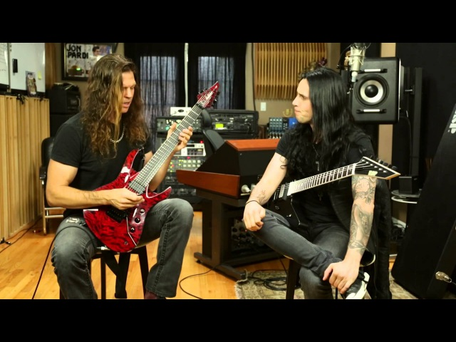 Chris Broderick and Gus G Trade Shred Licks Talk About Learning Guitar