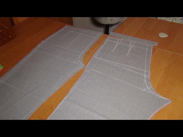 Как кроить брюки сразу на ткани: ЗП