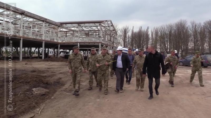 Міністр оборони України перевірив стан виконання будівельних робіт в Одеській області