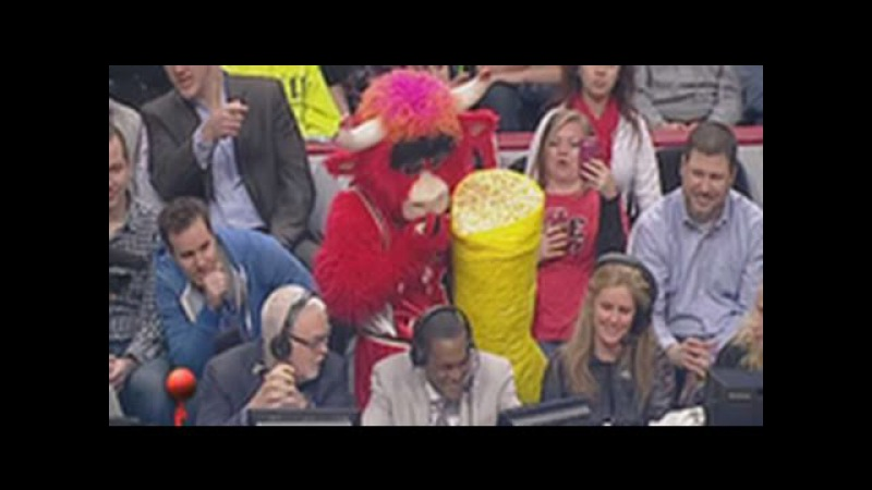The Livest Mascot In The NBA Best Of Benny The Bull Compilation Benny The Bull 2013 2014
