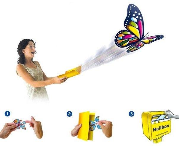 Открытка с вылетающей бабочкой в екатеринбурге