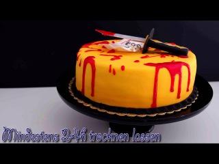 () KillBill Fondant Torte - Kill Bill Fondant Cake Tutorial - Halloween Fondant Torte - von Kuchenfee