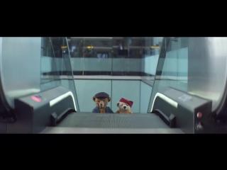 Рождественскии ролик о путешествии пожилои пары плюшевых медведеи - Трогательный милый новогодний ролик - настроение - видео