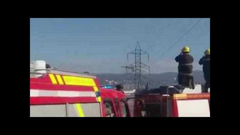 ILyushing il76 apagando incendio a 20 mts altura en Quilpue