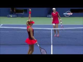 Mladenovic VS Makarova - Mladenovic TWEENER !!! - US OPEN 2015