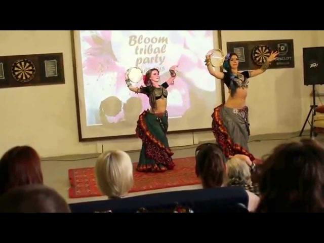 ATS® with tambourines, Dragonfly Tribe Tiana Elena Blazhenskih, Bloom Tribal Party 30 05 2015